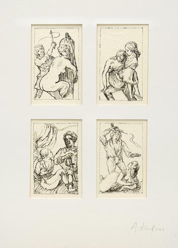 "4 Illustrations For ""die Verlobung Des Santo Domingo"" By Kleist by Alfred Kubin"