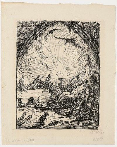 5. Nacht, 18. Jhdt. (fith Night, 18th Century) by Alfred Kubin