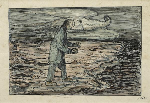 Am Strand (at The Beach) by Alfred Kubin at