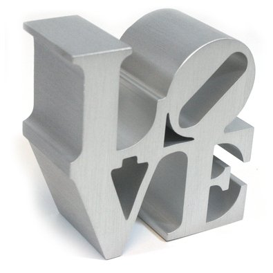 Love (silver) by Robert Indiana