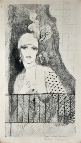 Portrait De La Baronne Gorgaud by Marie Laurencin