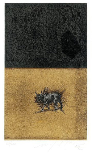 Bull by Mimmo Paladino