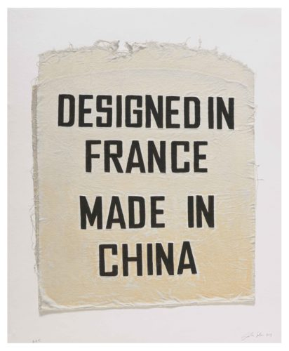 Designed In France, Made In China, Clothing Tag by Analia Saban at