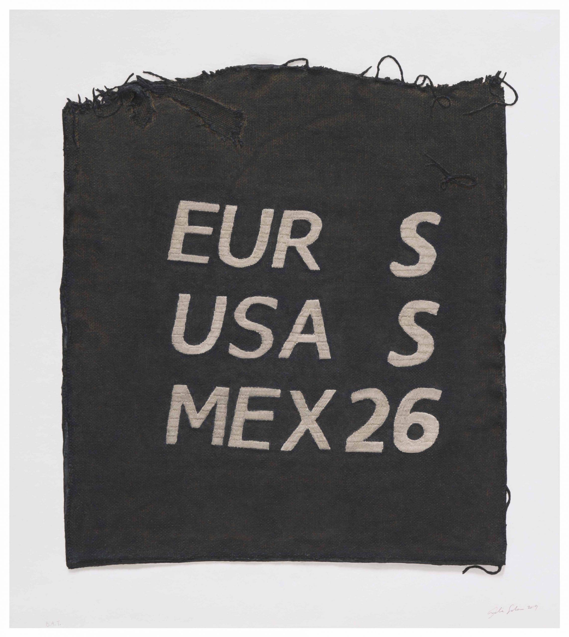 Eur S, Usa S, Mex 26, Clothing Tag by Analia Saban
