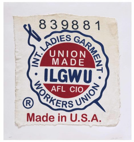 International Ladies Garment Workers Union, Made In Usa, Clothing Tag by Analia Saban at