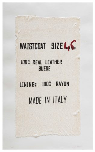 Waistcoat Size 46, Made In Italy, Clothing Tag by Analia Saban