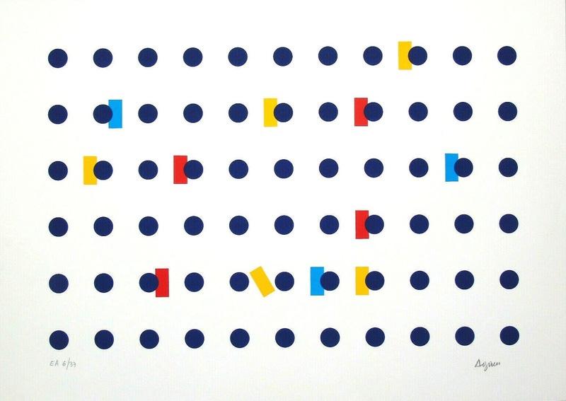 Homage To Federico Garcia Lorca I by Yaacov Agam