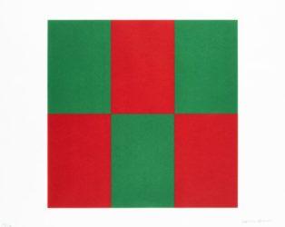 Verde Y Rojo For Studio by Carmen Herrera at