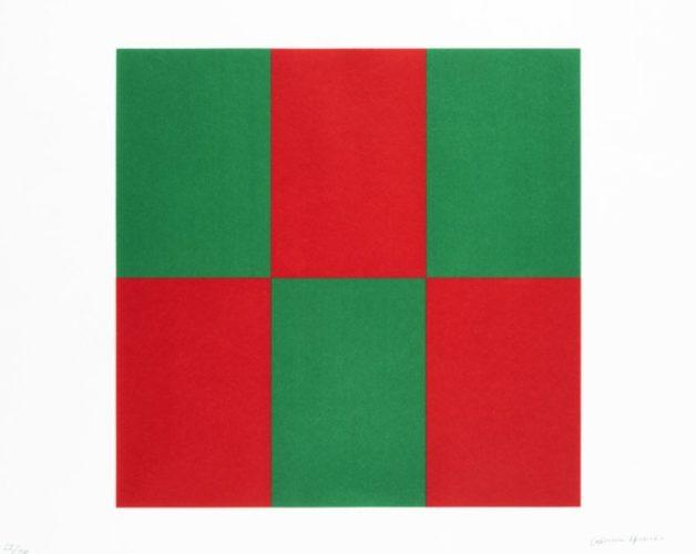 Verde Y Rojo For Studio by Carmen Herrera