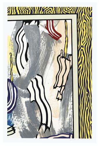 Painting On Blue And Yellow Wall by Roy Lichtenstein at Roy Lichtenstein