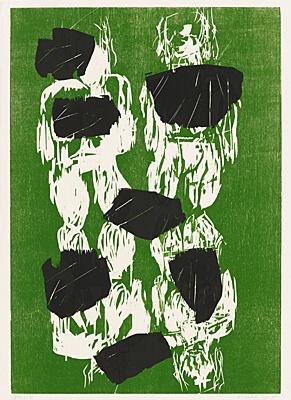Sieben Steine by Georg Baselitz