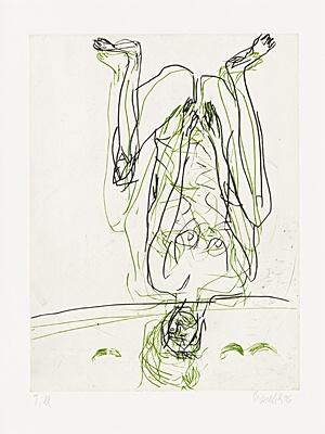 Zwei Streifen by Georg Baselitz at