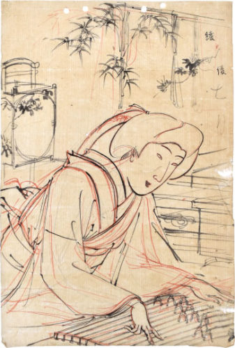 Preparatory Drawing Of 'annual Events And Customs Of The Eastern Capital: Seventh Month' by Yoshu Chikanobu