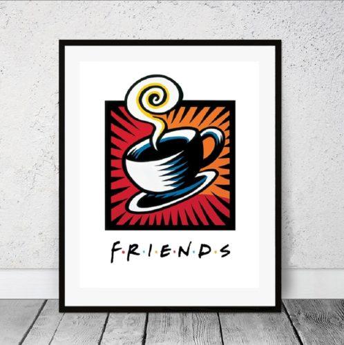 Friends Coffee Break by Burton Morris