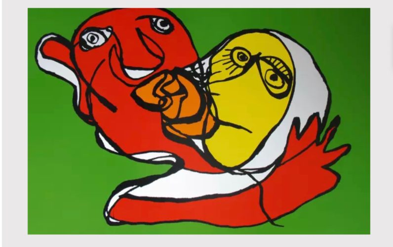 Putting Green Kiss by Karel Appel