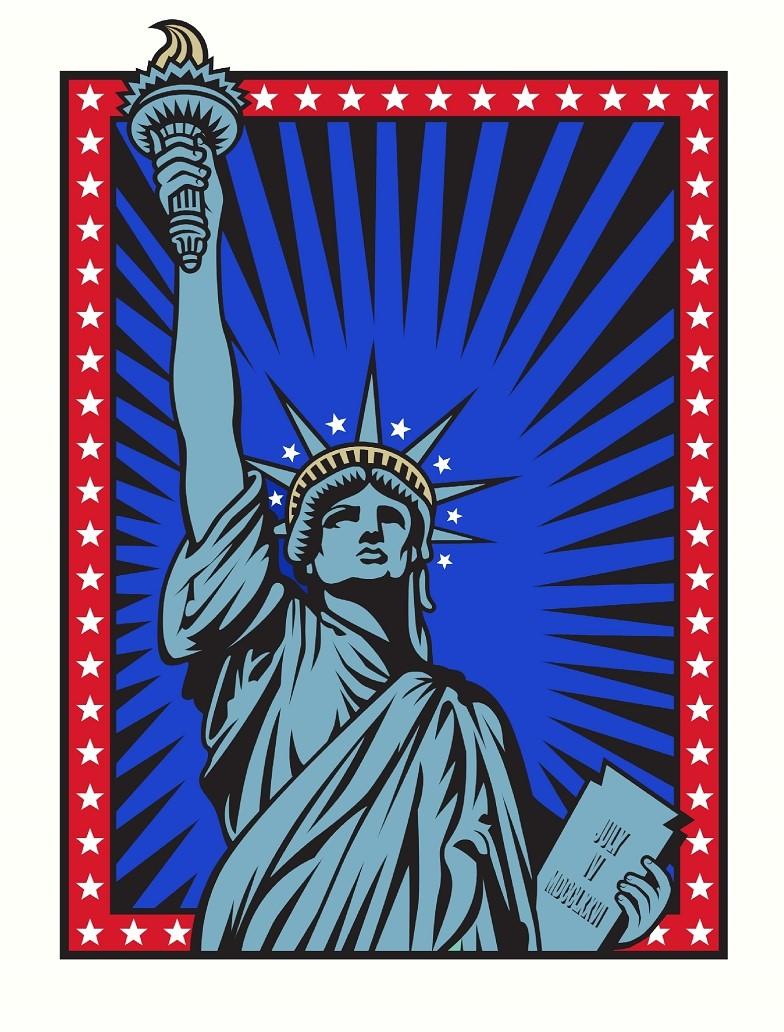 Liberty by Burton Morris