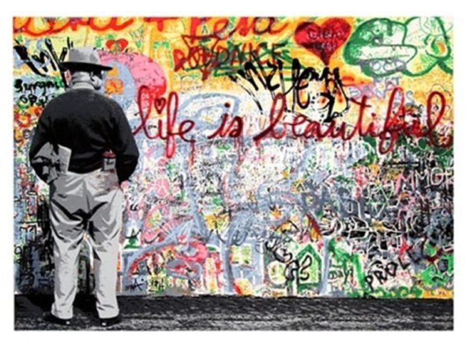 Life Is Beautiful by Mr. Brainwash at Mr. Brainwash