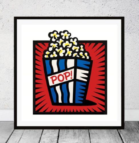 American Pop! – Red by Burton Morris