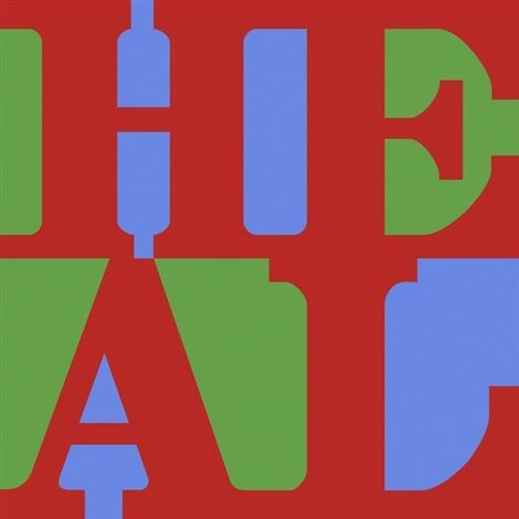 Heal (red, Green, Blue) by Robert Indiana