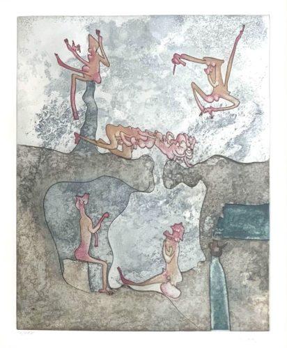 """Untitled (from """"così Fan Tutte"""" Portfolio) #2 by Roberto Matta"""