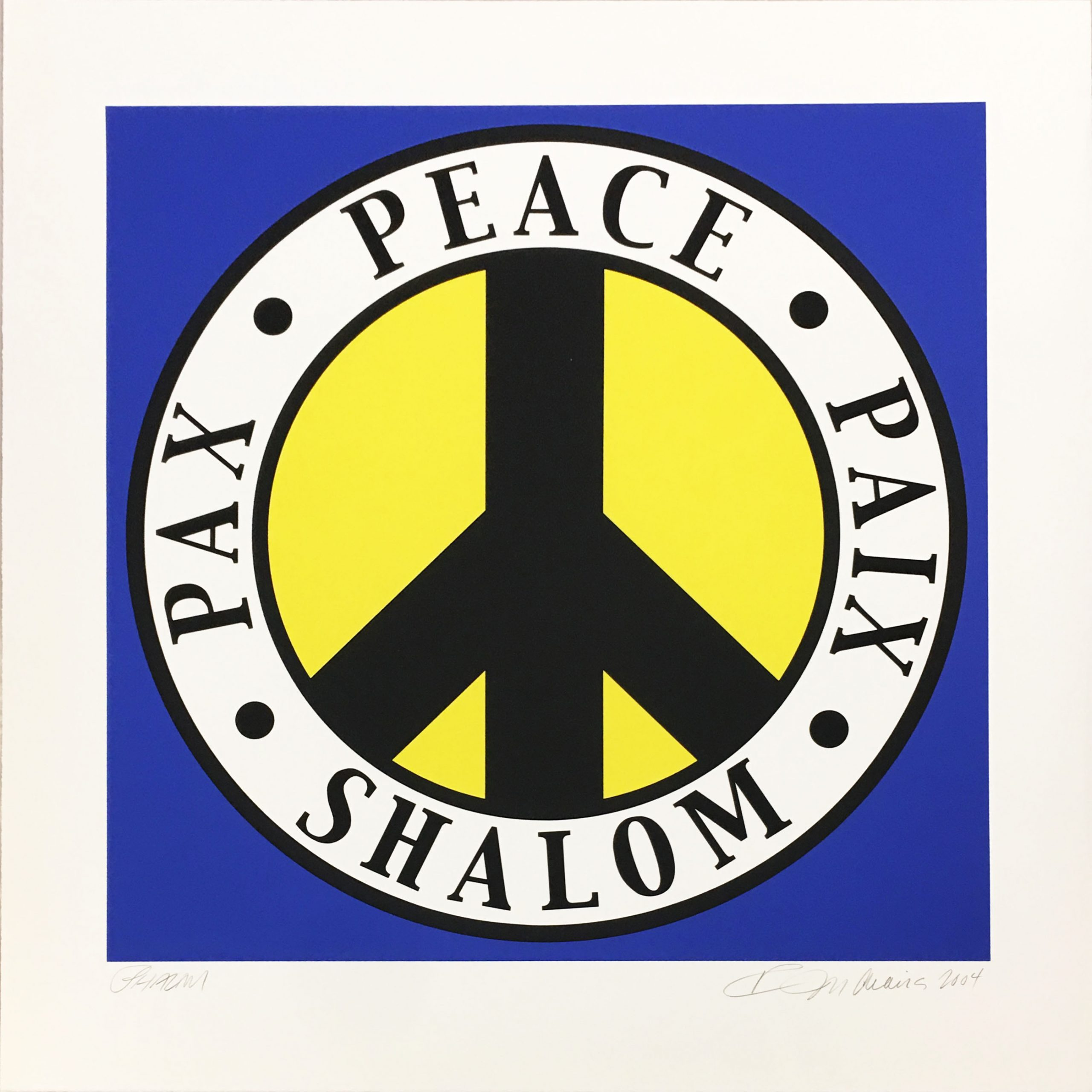 Shalom by Robert Indiana