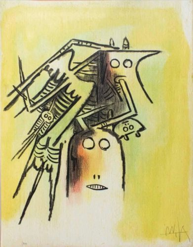 Elle, Casqué, From Pleni Luna by Wifredo Lam