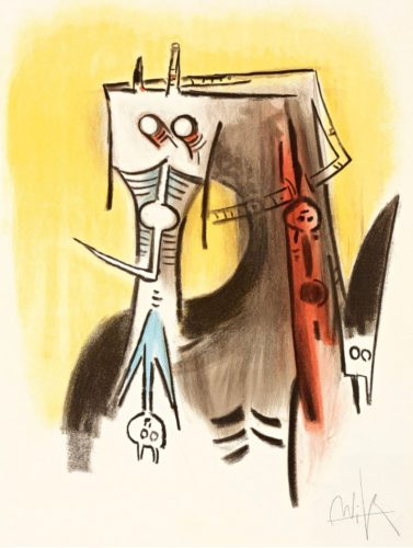 Le Regard Vertical #1 by Wifredo Lam