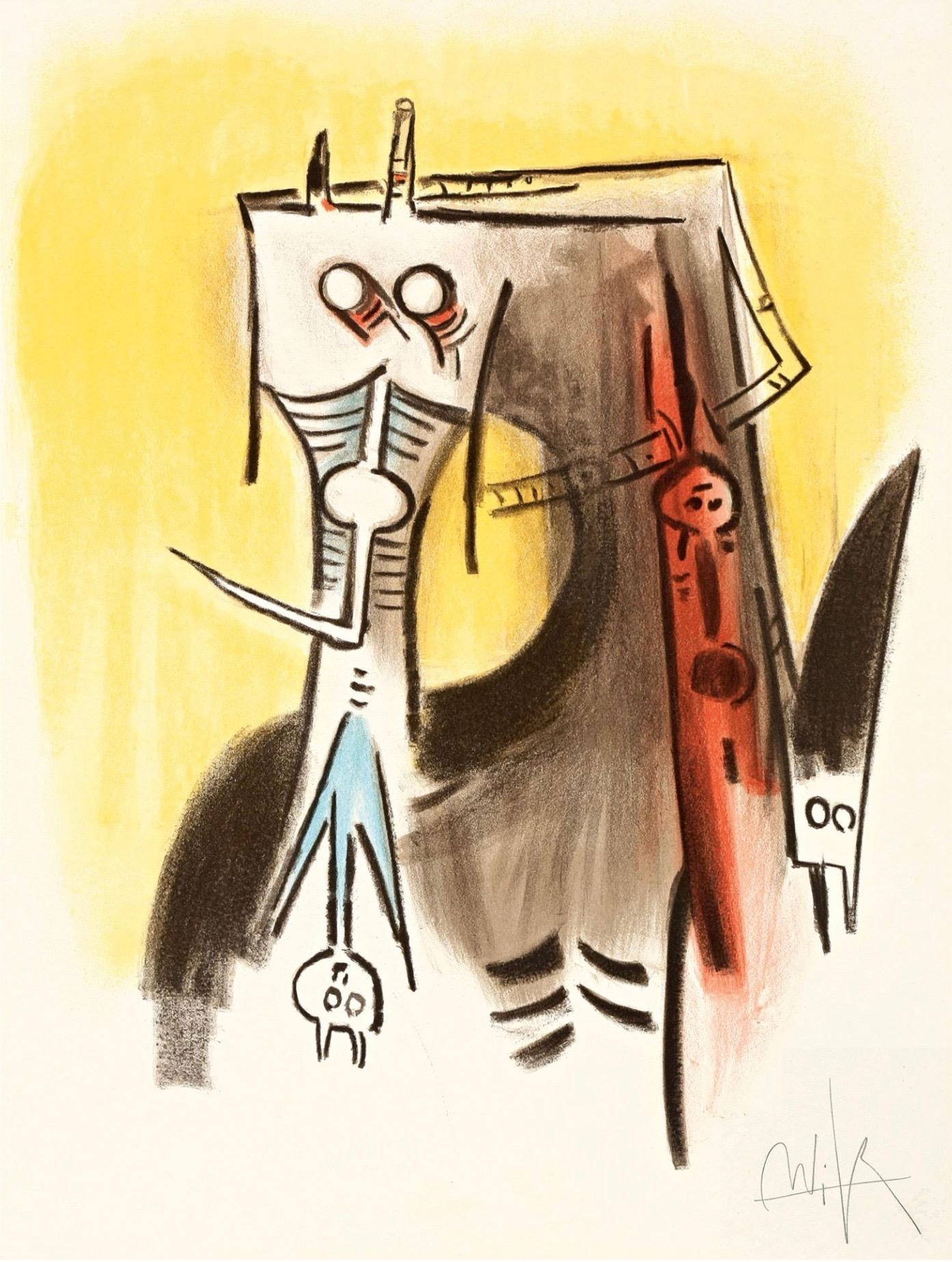 Le Regard Vertical #1 by Wifredo Lam
