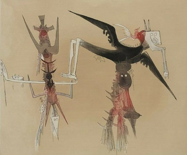 Sans Titre – Xxe Siecle Plate #4 by Wifredo Lam at www.kunzt.gallery