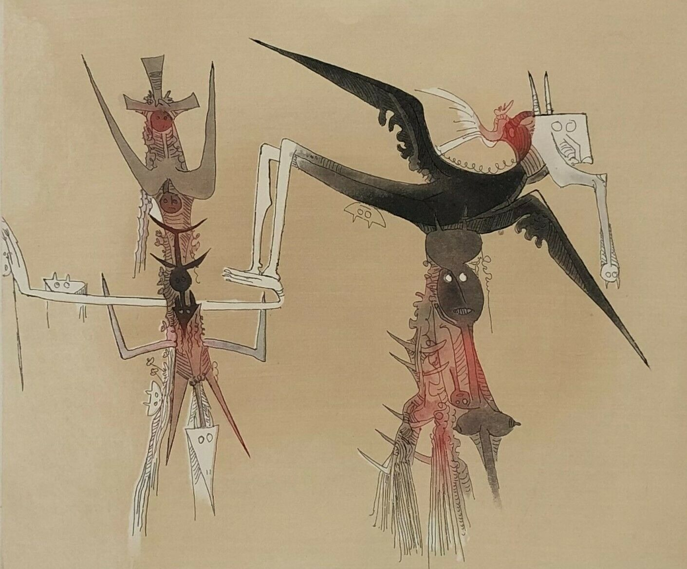 Sans Titre – Xxe Siecle Plate #4 by Wifredo Lam