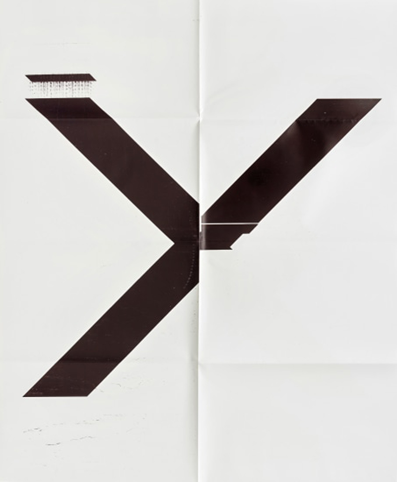 X Poster (untitled, 2007, Epson Ultrachrome Inkjet On Linen, 84 X 69 Inches, Wg1211), 2019 by Wade Guyton