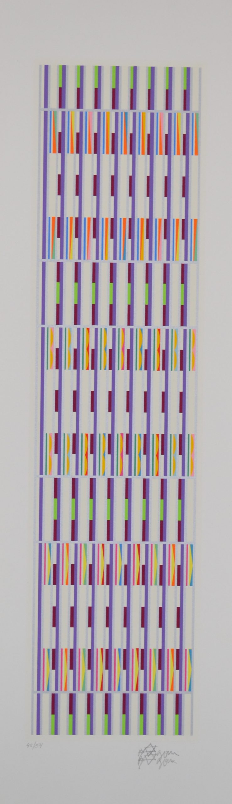 Vertical Orchestration Purple by Yaacov Agam