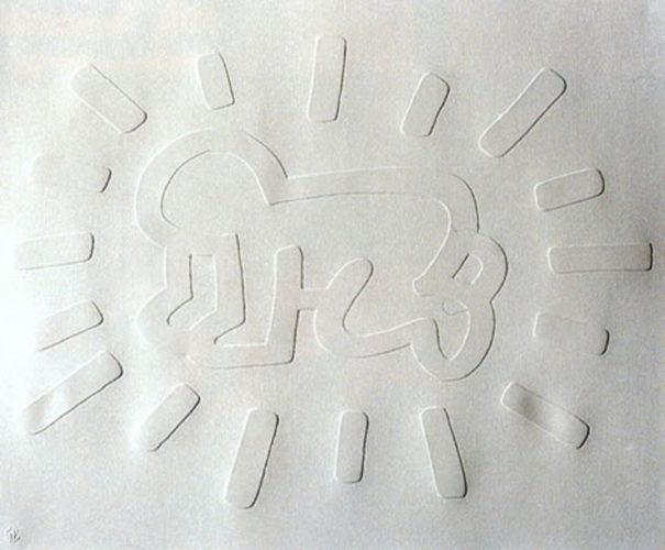 White Icons (radiant Baby) by Keith Haring