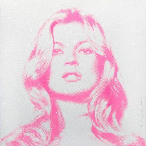 Kate Moss (pink) by Mr. Brainwash