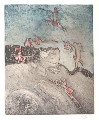 """Untitled (from """"così Fan Tutte"""" Portfolio) #7 by Roberto Matta"""
