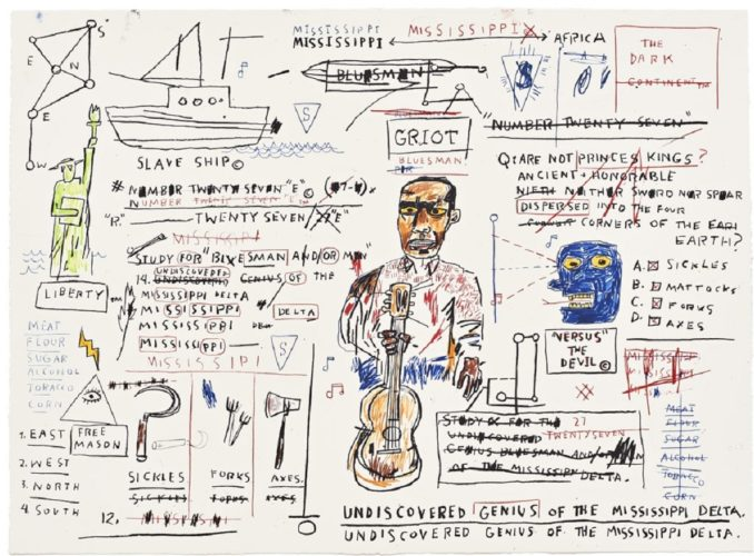 Undiscovered Genius by Jean-Michel Basquiat at Jean-Michel Basquiat