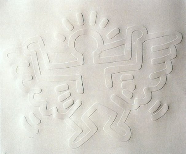 White Icons (angel) by Keith Haring