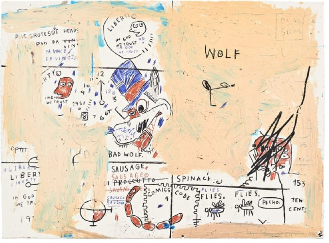 Wolf Sausage by Jean-Michel Basquiat at Jean-Michel Basquiat