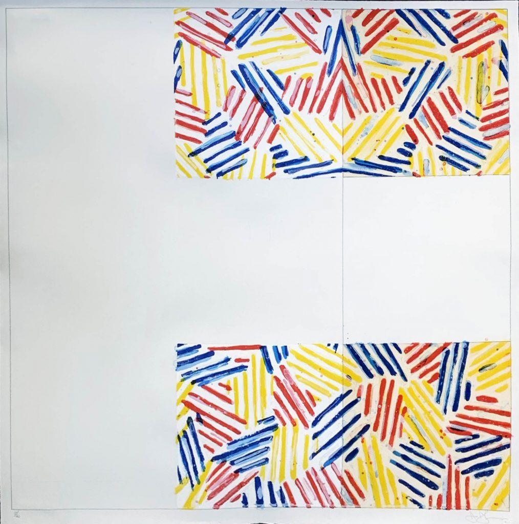 Jasper Johns Crosshatched Prints: #2 (After Untitled 1975) By Jasper Johns