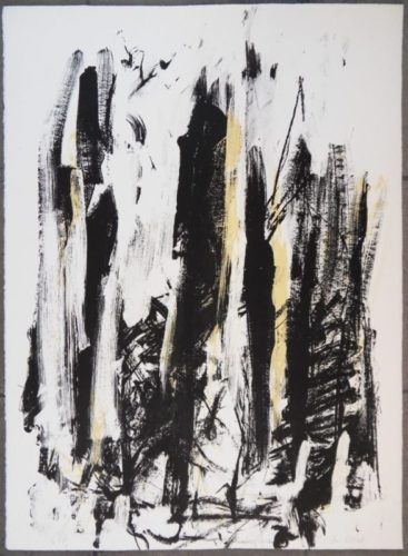 Arbres (Black and Yellow) by Joan Mitchell at Joan Mitchell