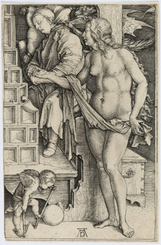 The Dream Of The Doctor (the Temptation Of The Idler) by Albrecht Durer at Christopher-Clark Fine Art