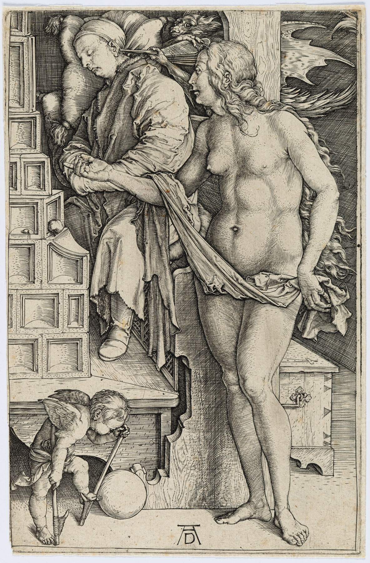 The Dream Of The Doctor (the Temptation Of The Idler) by Albrecht Durer