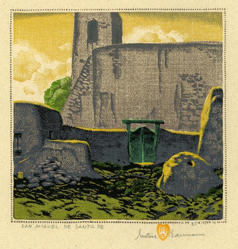 San Miguel De Santa Fe by Gustave Baumann