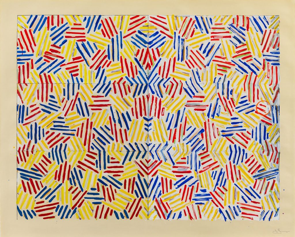 Jasper Johns Crosshatched Prints: Corpse And Mirror By Jasper Johns