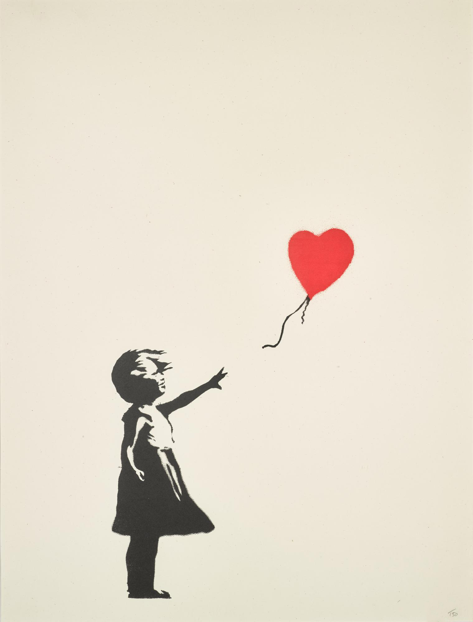Girl With Balloon (unsigned) by Banksy