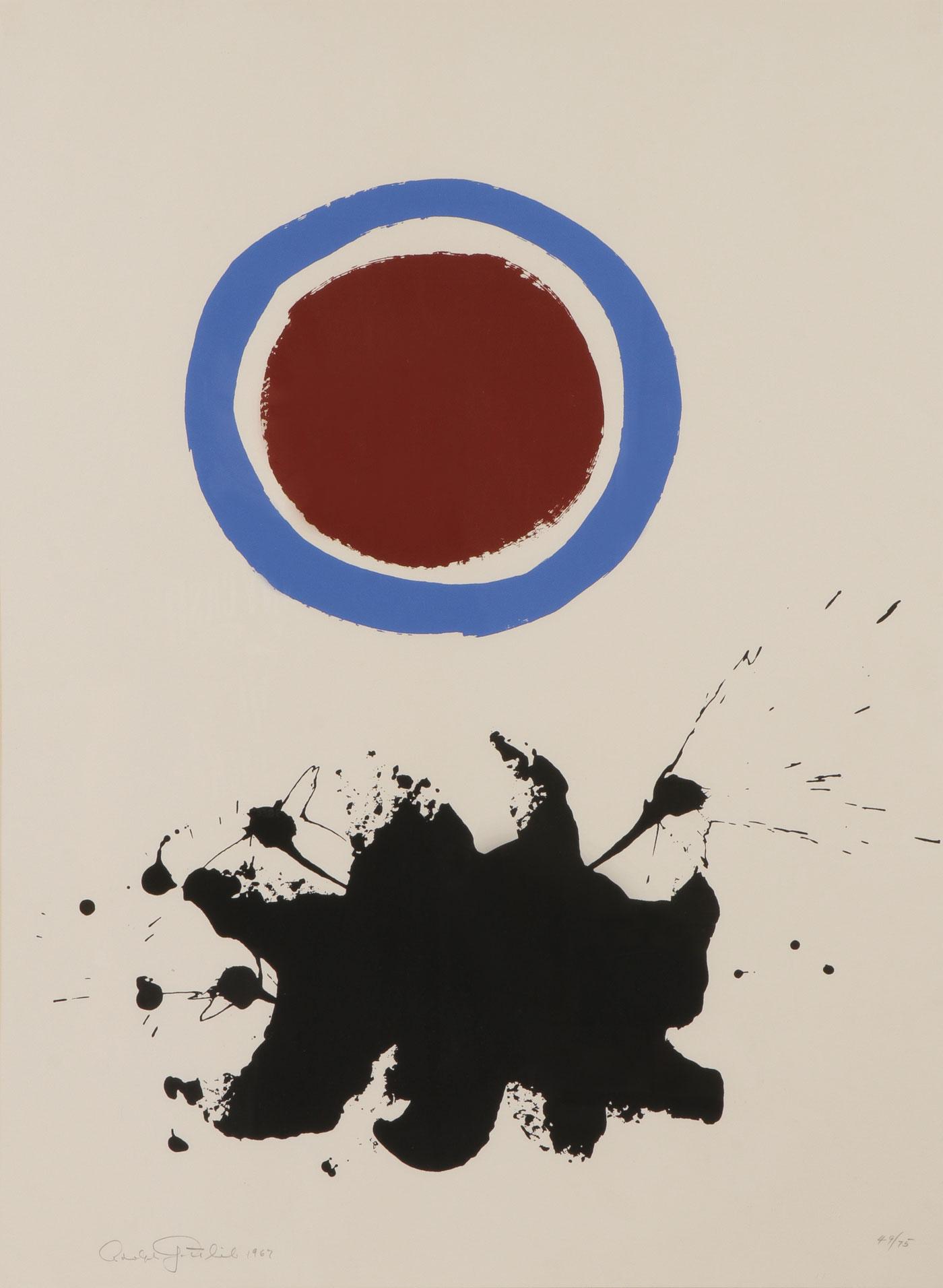 Blue Halo by Adolph Gottlieb