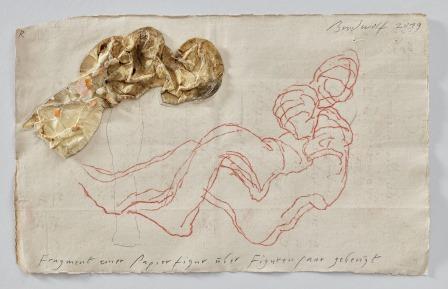 Fragment Einer Papierfigur über Figurenpaar Gebeugt  (fragment Of A Paper Figure Bended Over A Figur... by Jürgen Brodwolf