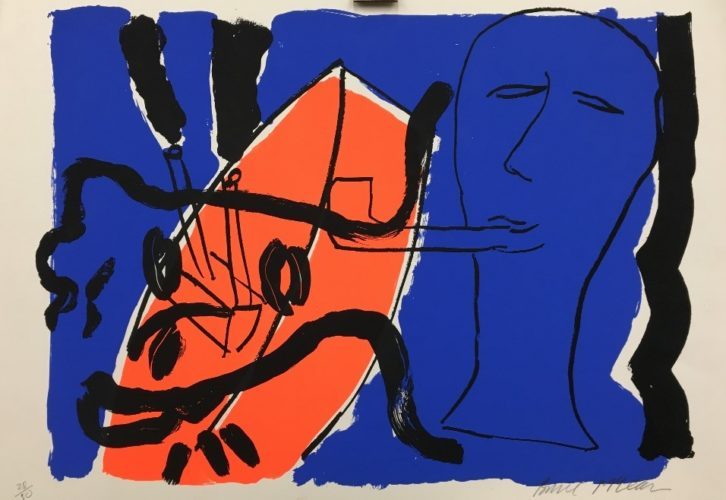 The Pipe Smoker With Female Head by Bruce McLean