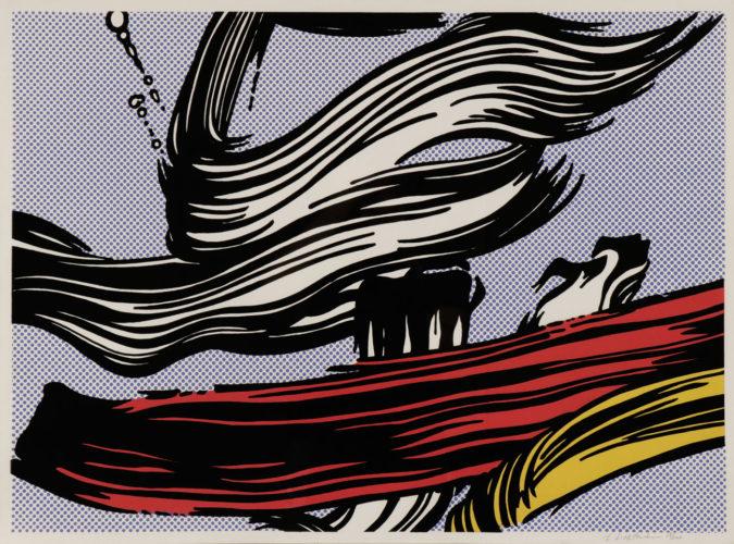 Brushstroke by Roy Lichtenstein