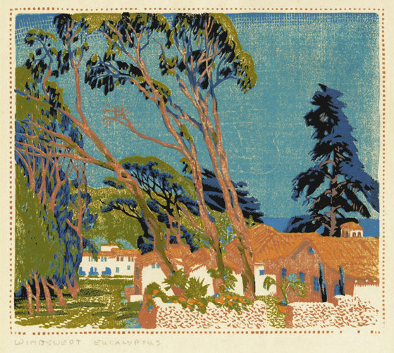 Windswept Eucalyptus by Gustave Baumann at